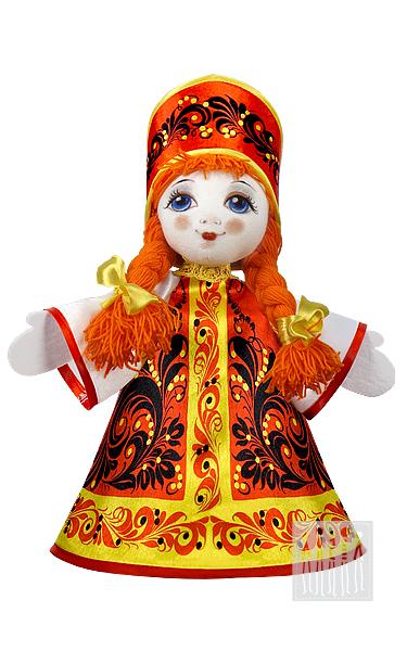 Кукла с хохломской росписью - 25 см