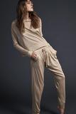 Шерстяной домашний костюм песочного цвета Zimmerli
