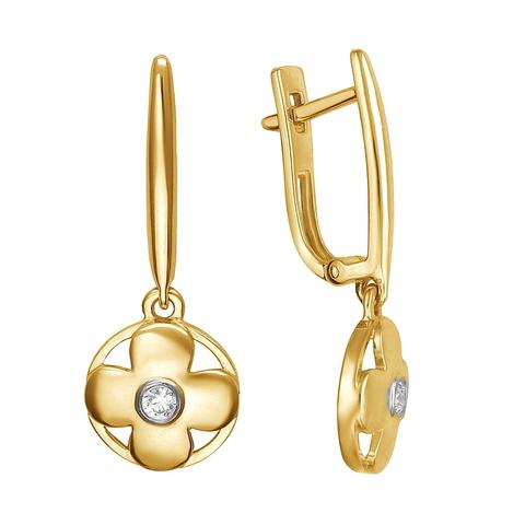 01С1312955 Серьги из золота с подвесками в стиле  LV