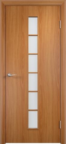 Дверь Верда C-12, цвет миланский орех, остекленная