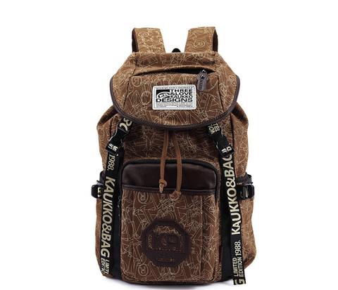 BAG387-2 Вместительный мужской городской рюкзак из ткани цвета хаки