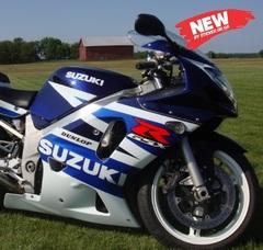 Набор наклеек Suzuki gsx-r 600 2003, синий - белый пластик