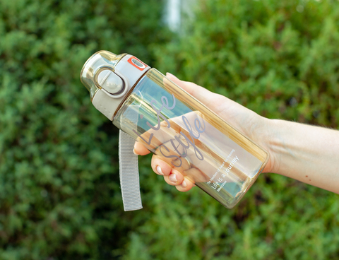 Бутылка POWCAN - 500 мл. Life Style - Серый