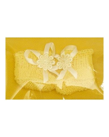 Пинетки - Желтый. Одежда для кукол, пупсов и мягких игрушек.