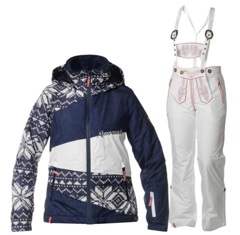 Женский горнолыжный костюм Almrausch Stams-Lois 320218-1818 синий