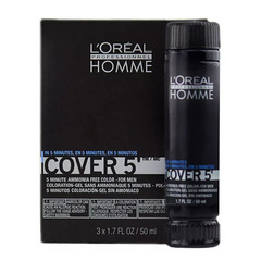 L`oreal Professionnel Homme Cover 5 №5 - Тонирующий гель (светлый шатен)
