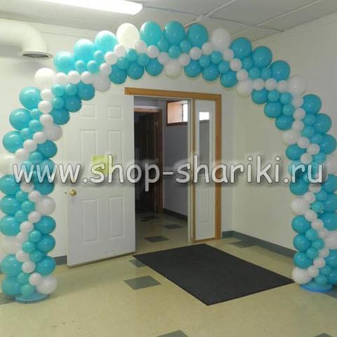 арка из шаров плоская