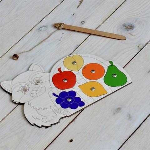 Магнитная игра Енот с фруктами, RadugaKids (Радуга Кидс)