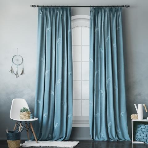 Комплект штор с подхватами Либретто голубой