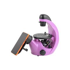 Микроскоп школьный Микромед Эврика 40х-320х инвертированный (аметист)