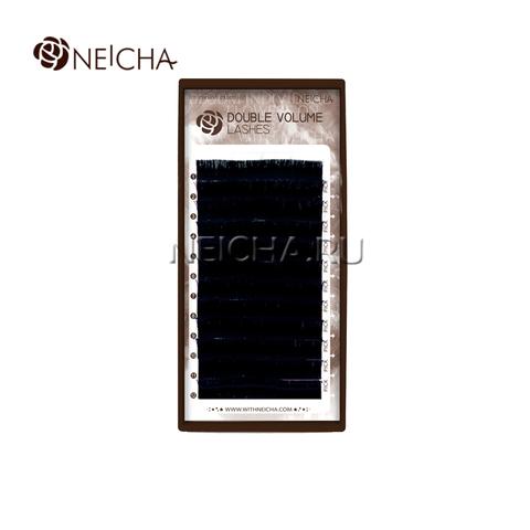 Ресницы NEICHA нейша двухъярусные DOUBLE VOLUME 12 линий