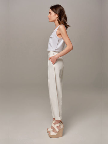 Женские белые брюки Eleventy - фото 4