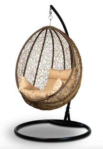 Подвесное кресло-кокон MALAGA + каркас + подушка