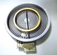 Конфорка стеклокерамическая 2200/750 W с двумя зонами нагрева