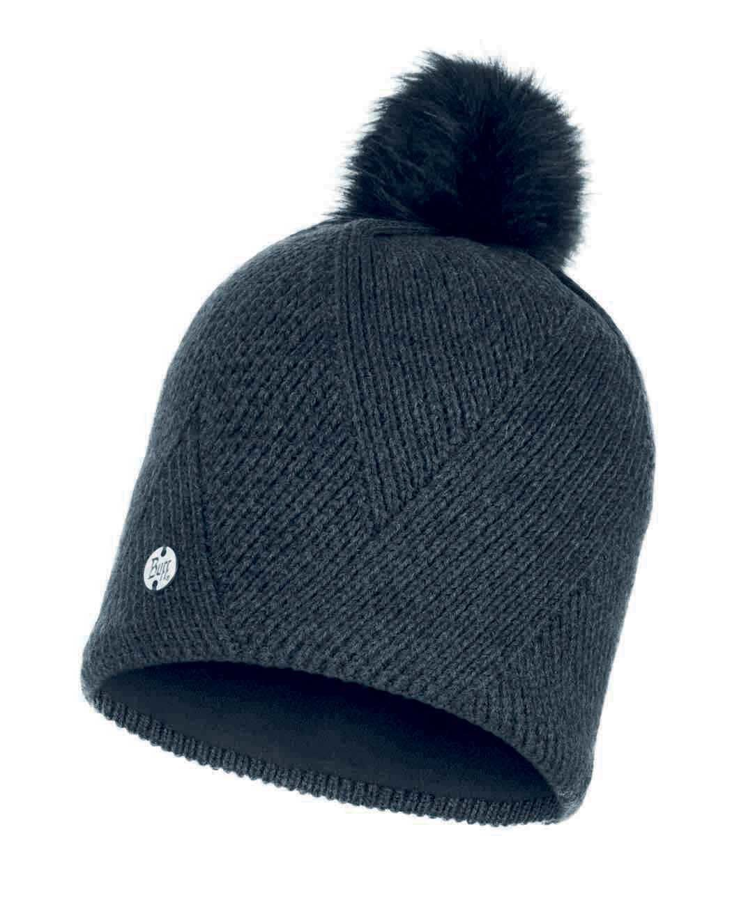 Шапки с помпоном Вязаная шапка с флисовой подкладкой Buff Hat Knitted Polar Disa Black 117869.999.10.00.jpg