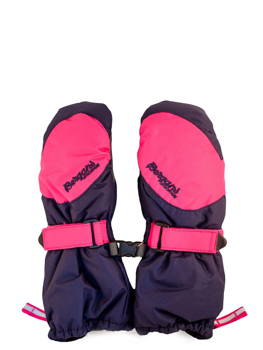 Bergans варежки 2379 Navy/Hot Pink