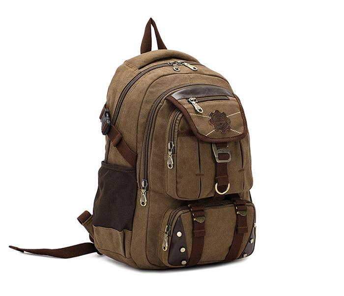 Фото - Мужской повседневный рюкзак цвета хаки из прочной ткани фотоаппарат