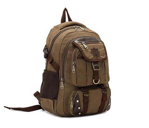 Мужской повседневный рюкзак цвета хаки из прочной ткани