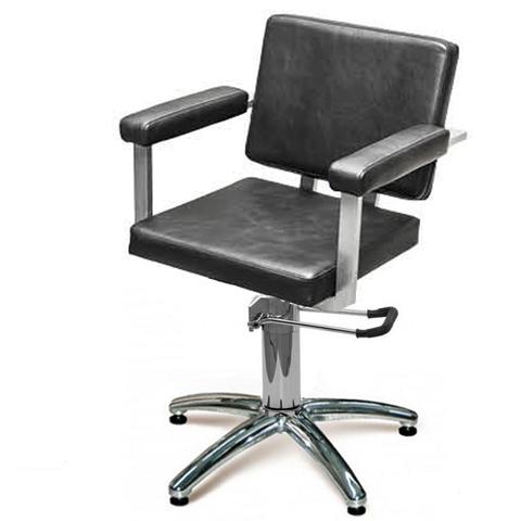 Кресло Брут 2 черное гидравлика хром пятилучье