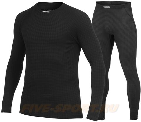 Мужской комплект термобелья Craft Warm Wool черный (1902862-9999-1902863-9999)