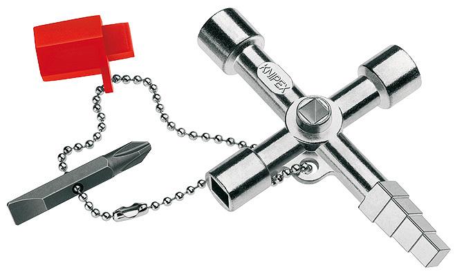 Ключ для электрошкафов с битой и переходником Knipex KN-001104