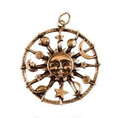 Солнечный круг кулон