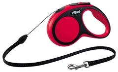 Поводок-рулетка Flexi New Comfort S (до 12 кг) трос 5 м черный/красный