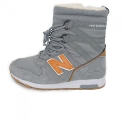 Зимние New Balance Winter Sport Gray/Orange With Fur