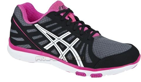 Кроссовки для бега Asics Ayami-Zone женские, черно-розовые