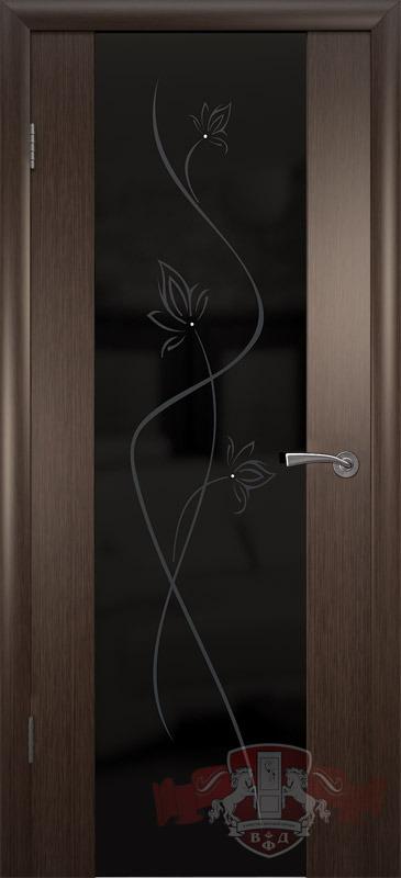 8ДО4 ТРИПЛЕКС черный, Дверь межкомнатная,Владимирская Фабрика Дверей