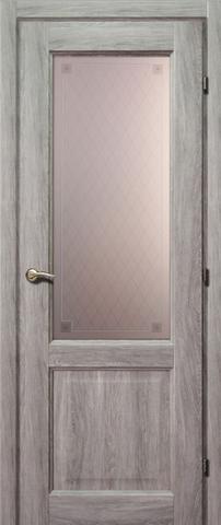 Дверь ДО 6324 с/о Пико (дуб пепельный, остекленная CPL), фабрика Краснодеревщик