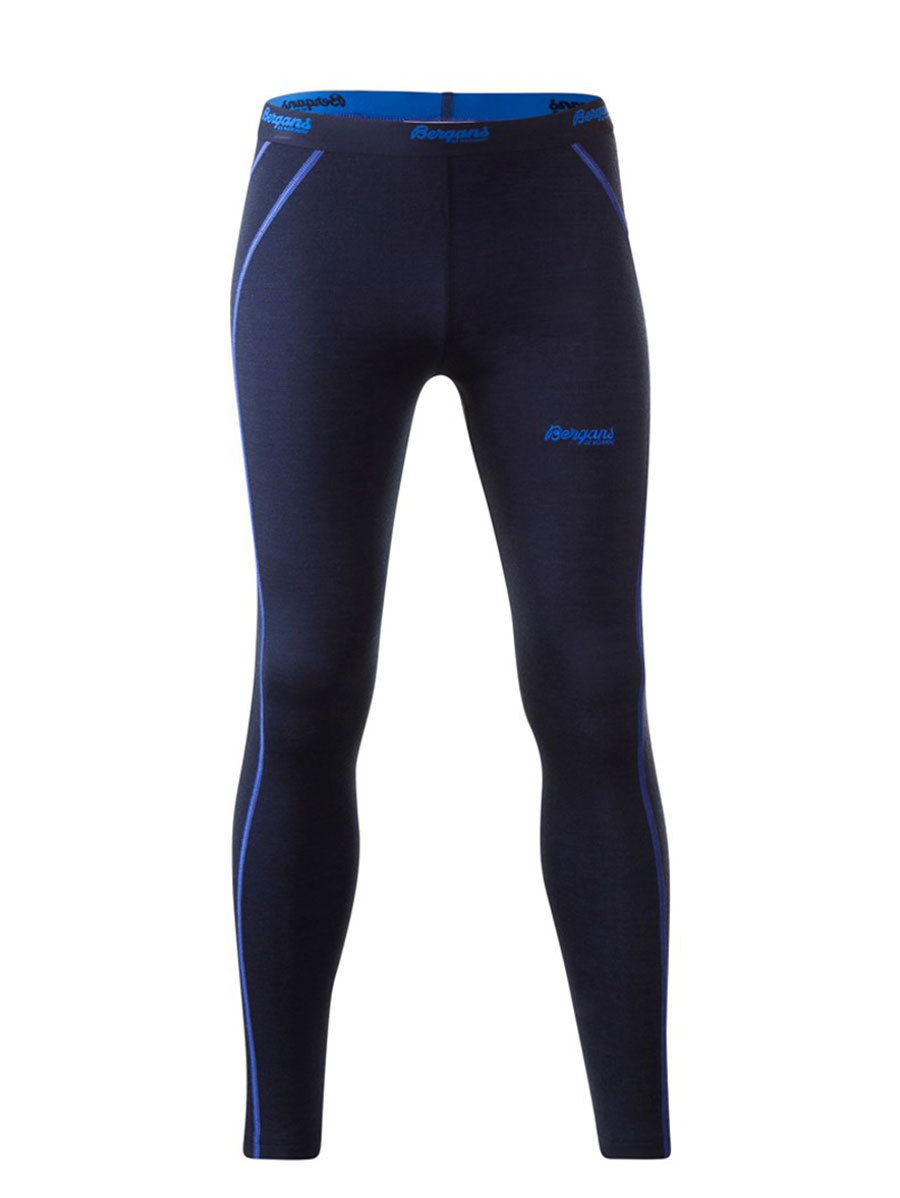 Bergans термобелье 1874 брюки Akeleie Youth Tights Navy/Warm Cobalt
