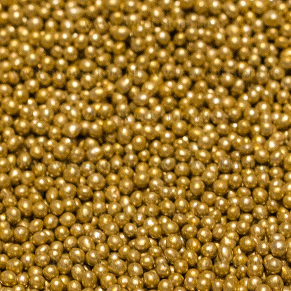 Посыпка Шарики золотые 2 мм