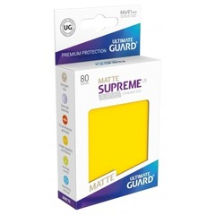 Ultimate Guard - Желтые матовые протекторы 80 штук в коробочке