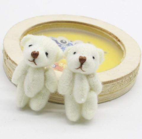 Іграшка для ляльки 4 см - ведмедик білий маленький