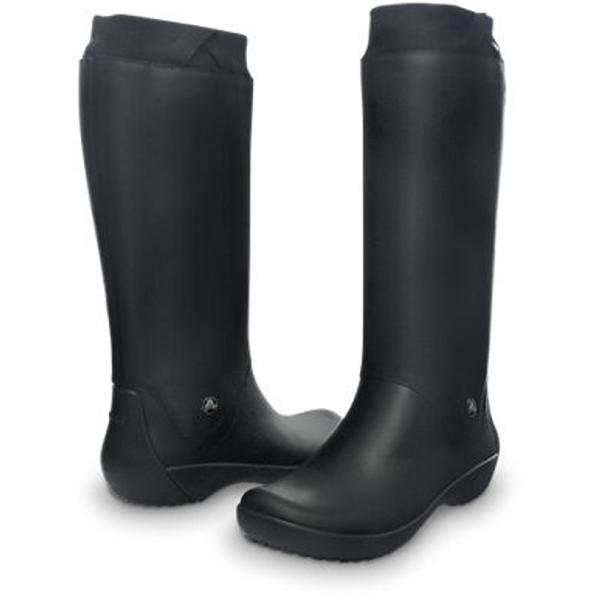 29351f3060bf Сапоги Crocs RainFloe Boot Черные