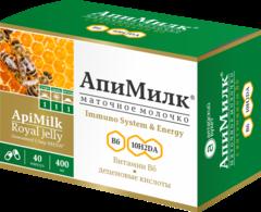 Маточное молочко Апимилк в капсулах №40 (Алтайский букет)