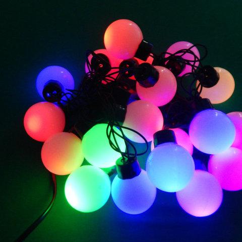 Гирлянда шарики лед светодиодная уличная нить