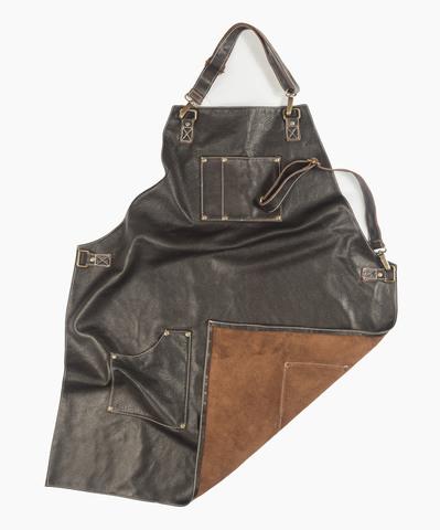 Мужской брутальный кожаный фартук Brewer Lab BL17112 размер L