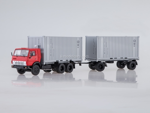 KAMAZ-53212 container truck with trailer GKB-8350 1:43 Start Scale Models (SSM)