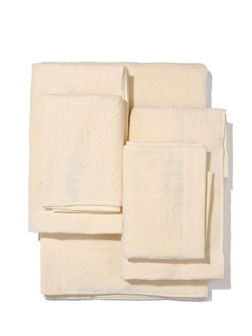 Набор полотенец 3 шт Roberto Cavalli Logo слоновой кости