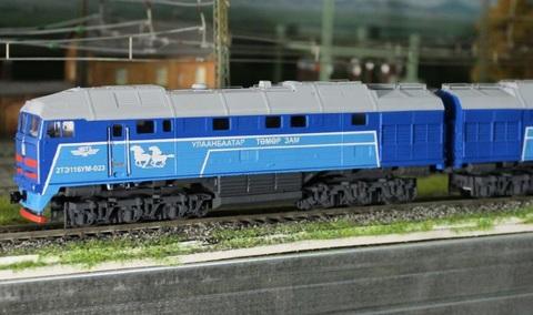 22C05 Стендовая модель тепловоза 2ТЭ116У в окраске РЖД, НО