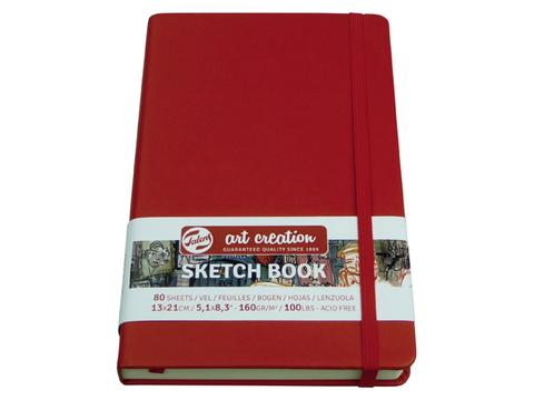 Скетчбук для смешанных техник Art Creation 160г/кв.м 12х12 см 80л твердая обложка красный