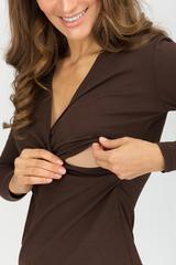 """Блуза для кормящих """"Сюрприз"""" шоколад"""