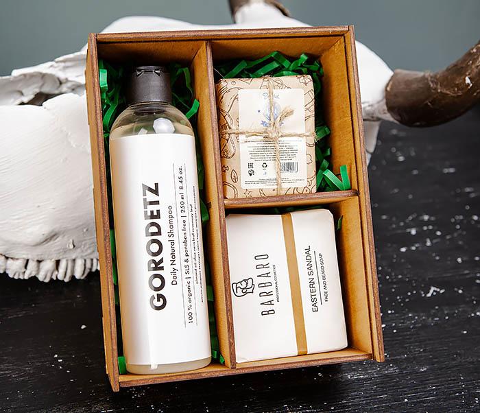 Мужской набор из шампуня, мыла для лица и тела