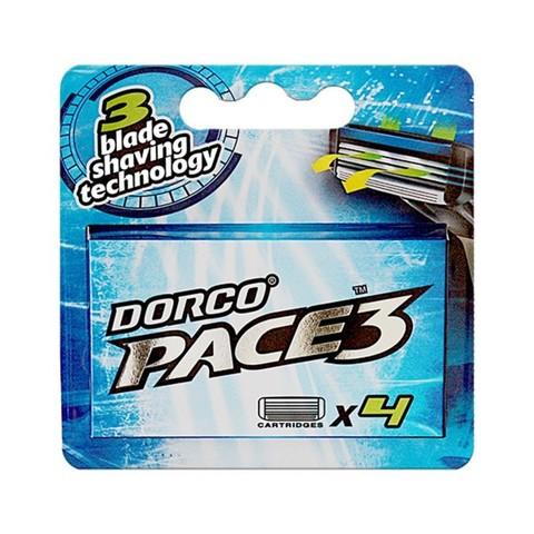 Dorco PACE 3 Сменные кассеты для бритья с 3 лезвиями 4шт.
