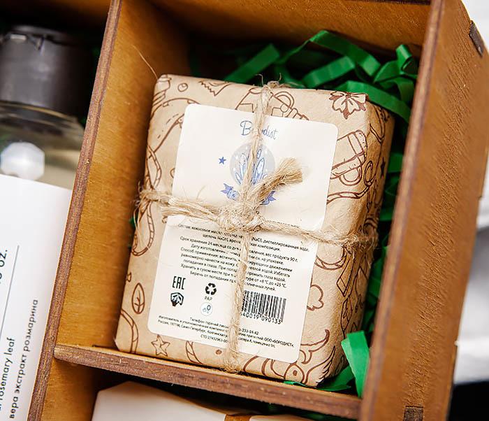 Мужской набор из шампуня, мыла для лица и тела фото 02