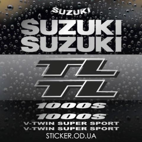 Набор виниловых наклеек на мотоцикл Suzuki TL 1000S 2001