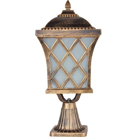 Светильник садово-парковый, 60W 230V E27 IP44 черное золото, PL4063 (Feron)