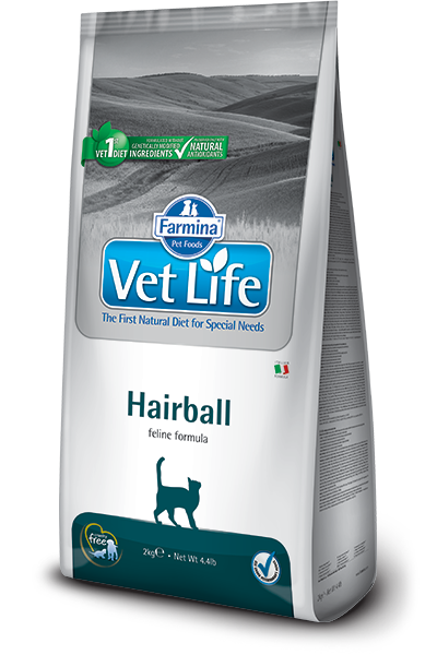 Корм и лакомства Ветеринарный корм для кошек, способствующий выведению комочков шерсти из кишечника FARMINA Vet Life Hairball farmina-vet-life-feline-hairball_web.png